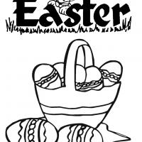Printable Easter Basket with Eggs - Printable Coloring Sheets - Free Printable Coloring Pages