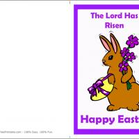Printable Easter Brown Bunny - Printable Easter Cards - Free Printable Cards