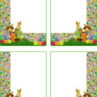 Easter Bunnies Colorful Gift Cards