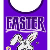 Printable Easter Bunny Door Hanger - Printable Fun - Free Printable Activities