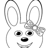 Easter Bunny Face Coloring Sheet