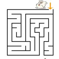 Printable Easter Bunny Looking for Carrots Maze - Printable Mazes - Free Printable Games