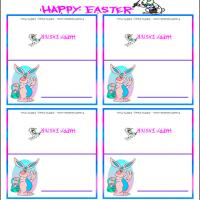 Printable Easter Bunny Place Cards - Printable Place Cards - Free Printable Cards
