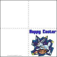 Printable Easter Bunny - Printable Greeting Cards - Free Printable Cards