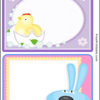Printable Easter Chick and Bunny Post Card Set - Printable Card Maker - Free Printable Cards