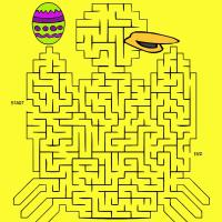 Easter Chick Maze