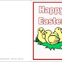 Printable Easter Chicks Card - Printable Easter Cards - Free Printable Cards