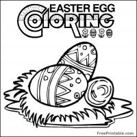 Printable Easter Coloring Egg - Printable Coloring Sheets - Free Printable Coloring Pages
