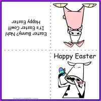 Printable Easter Cow Mini Card - Printable Easter Cards - Free Printable Cards