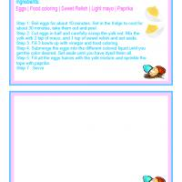 Printable Easter Deviled Eggs Recipe Carda - Printable Recipe Cards - Misc Printables