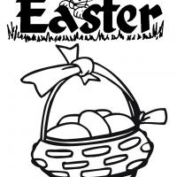 Printable Easter Egg Basket - Printable Coloring Sheets - Free Printable Coloring Pages