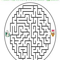 Printable Easter Egg Bunny and Basket Maze - Printable Mazes - Free Printable Games