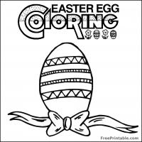 Printable Easter Egg Coloring Page - Printable Coloring Sheets - Free Printable Coloring Pages