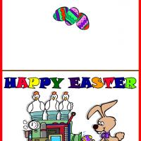 Printable Easter Egg Machine - Printable Easter Cards - Free Printable Cards