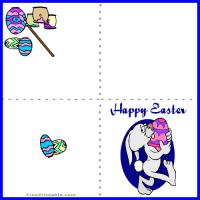 Printable Easter Egg Painting Mini Card - Printable Easter Cards - Free Printable Cards