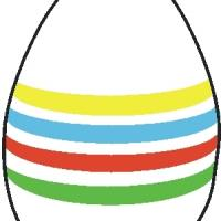 Printable Easter Egg with Stripes - Printable Stencils - Free Printable Crafts