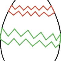 Printable Easter Egg with Zigzag - Printable Stencils - Free Printable Crafts