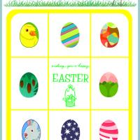 Printable Easter Eggs Bingo Card Number 1 - Printable Bingo - Free Printable Games