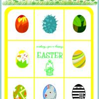 Easter Eggs Bingo Card Number 3