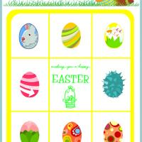 Printable Easter Eggs Bingo Card Number 4 - Printable Bingo - Free Printable Games