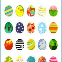 Easter Eggs Bingo Tiles