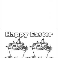Printable Easter Eggs In Baskets - Printable Easter Cards - Free Printable Cards