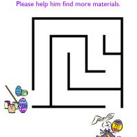 Printable Easter Eggs Painting Easy Maze - Printable Mazes - Free Printable Games