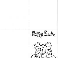 Printable Easter Eggs With Ribbons - Printable Easter Cards - Free Printable Cards
