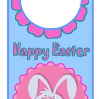 Printable Easter Floral Bunny Door Hanger - Printable Fun - Free Printable Activities