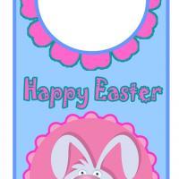 Easter Floral Bunny Door Hanger