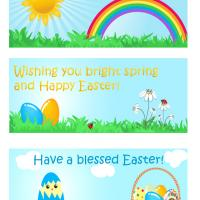 Easter Greeting Bookmarks