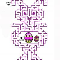 Printable Easter Maze - Printable Mazes - Free Printable Games