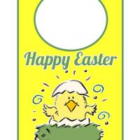 Printable Easter Spring Chick Door Hanger - Printable Fun - Free Printable Activities