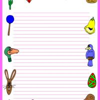 Printable Easter Stationary - Printable Stationary - Free Printable Activities