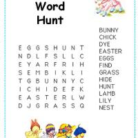 Printable Easter Word Hunt For Little Kids - Printable Word Search - Free Printable Games