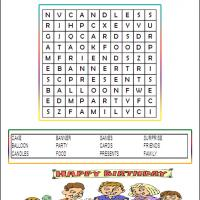 Printable Easy Birthday Word Search - Printable Word Search - Free Printable Games