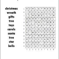 Printable Easy Christmas Word Search - Printable Word Search - Free Printable Games