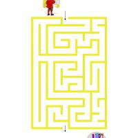 Printable Easy Winter Maze - Printable Mazes - Free Printable Games