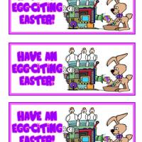 Printable Egg-citing Easter Egg Factory Bookmarks - Printable Bookmarks - Free Printable Crafts