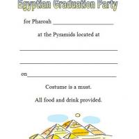 Egyptian Graduation Party Invites
