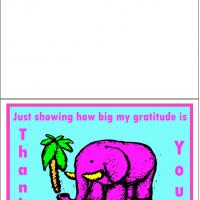 Printable Elephant Thank You Card - Printable Thank You Cards - Free Printable Cards