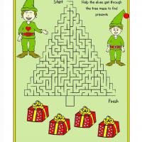 Printable Elves Maze - Printable Mazes - Free Printable Games