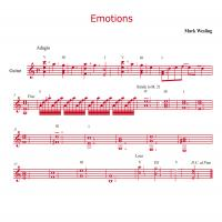 Printable Emotions By Mark Wesling Guitar Music Sheet - Printable Guitar Music - Free Printable Music