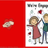 Printable Engagement Card - Printable Greeting Cards - Free Printable Cards