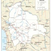 South America- Bolivia Political Map