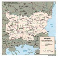 Printable Europe- Bulgaria Political Map - Printable Maps - Misc Printables