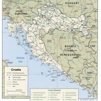 Printable Europe- Croatia Political Map - Printable Maps - Misc Printables