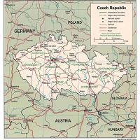 Europe- Czech Republic Political Map