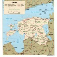 Printable Europe- Estonia Political Map - Printable Maps - Misc Printables