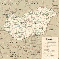 Europe- Hungary Political Map